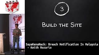 #HITBGSEC 2018 COMMSEC: SayaKenaHack: Breach Notification In Malaysia - Keith Rozario
