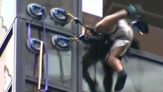Trump Tower climber yanked into building
