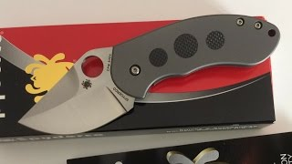 spyderco burch chubby knife titanium framelock cpm s30v steel blade pocket monster