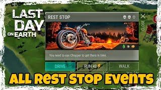 LDOE: Rest Stop Chopper Events (All types) Last Day On Earth (v.1.8.2) (Vid#25) !!