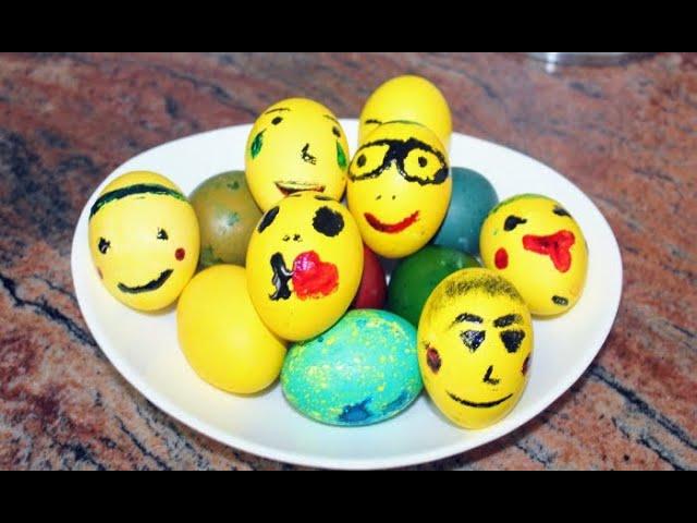 Да боядисаме весели, шеговити яйца за Велик Ден