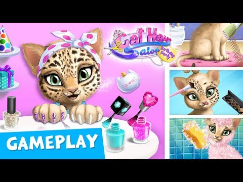 CATS' BEAUTY ROUTINE 😸 Cat Hair Salon Birthday Party - Gameplay | TutoTOONS Games for Kids