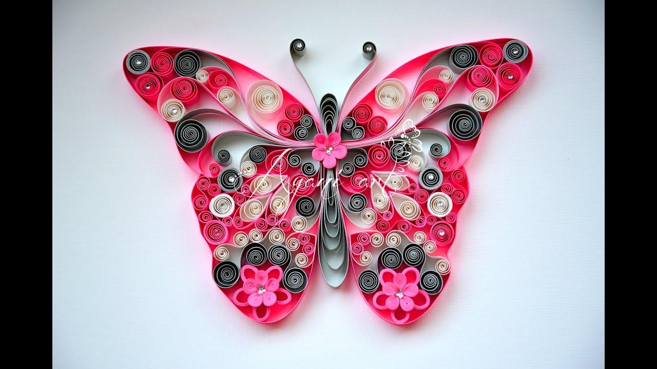 Calendar Wallpaper Quilling : Tutorial quilling mariposa filigrana de papel youtube