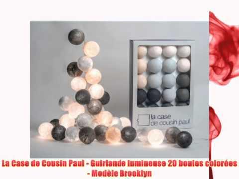 la case de cousin paul guirlande lumineuse 20 boules colores modle brooklyn - Guirlande Boules Colores