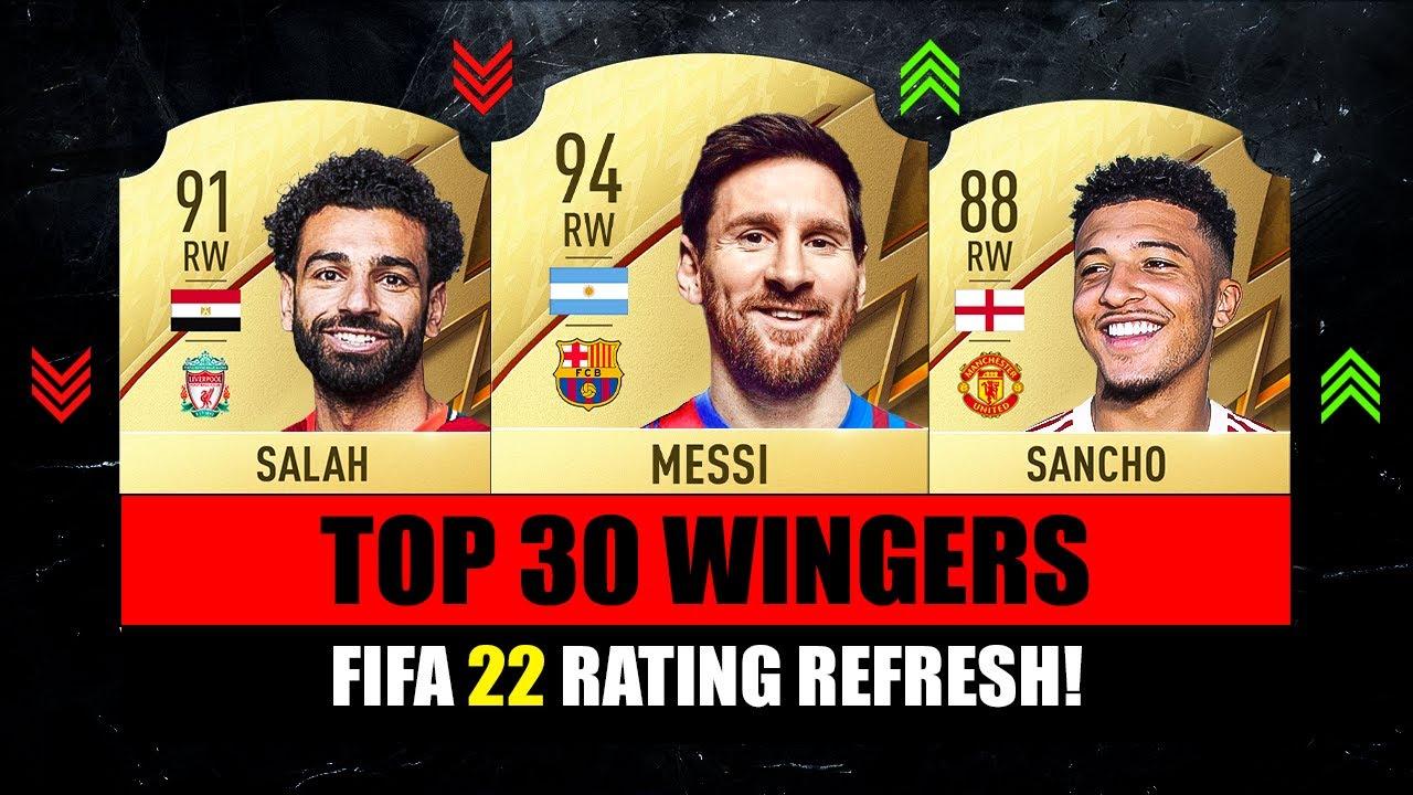 FIFA 22 | TOP 30 BEST WINGERS RATING! 😱🔥 ft. Sancho, Messi, Salah…