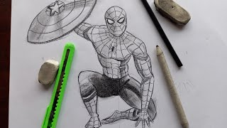 How To Draw Spider Man Drawing Step By Step | Spider Man Drawing For Beginners
