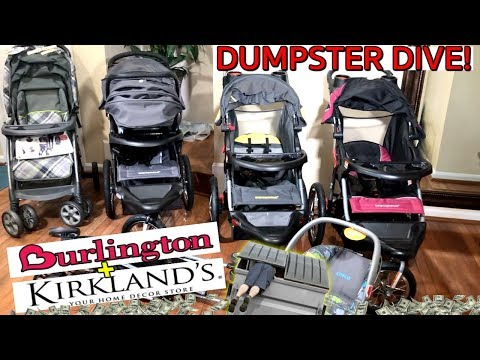 BIG DUMPSTER DIVE PAYOUT! $2,000+ HAUL BRAND NEW STROLLERS   CAR SEATS   DECOR    *INSANE