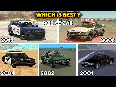 GTA : WHICH IS BEST POLICE CAR IN EVERY GTA? (GTA 5, 4, SAN, VC, 3)