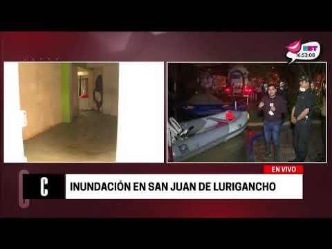 Cuarto Poder: Aniego en San Juan de Lurigancho