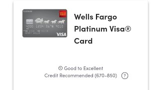 1.est:2015!Wells Fargo Platinum Visa, 👍upgraded from secured 2015 to unsecured in 17mths, 2017.📉💪