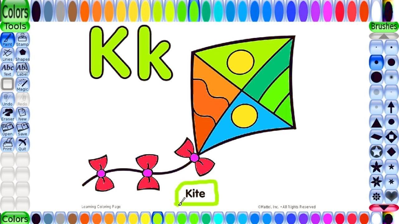 Letter K Coloring Pages - Twisty Noodle | 720x1280