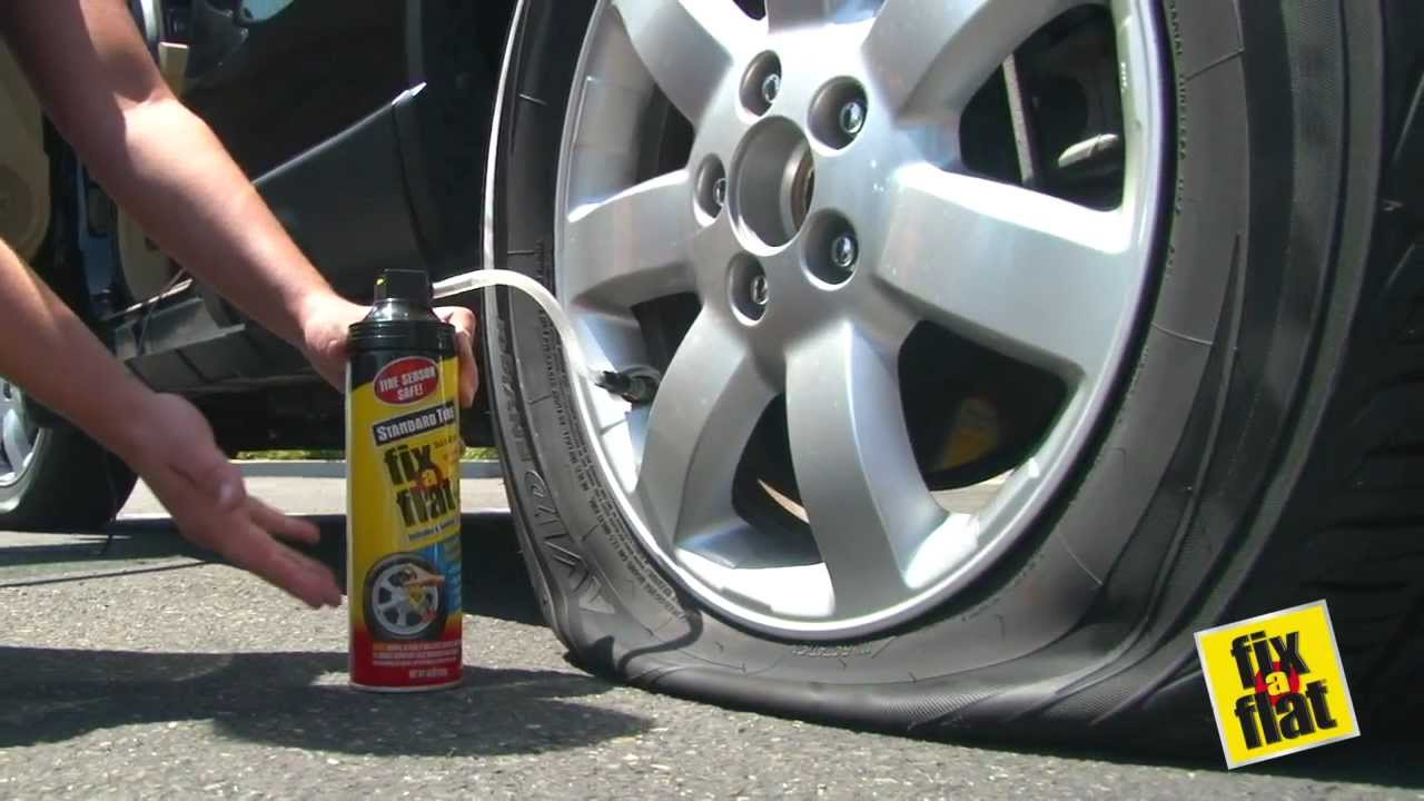 Fix A Flat Tire Inflator Sealer Youtube