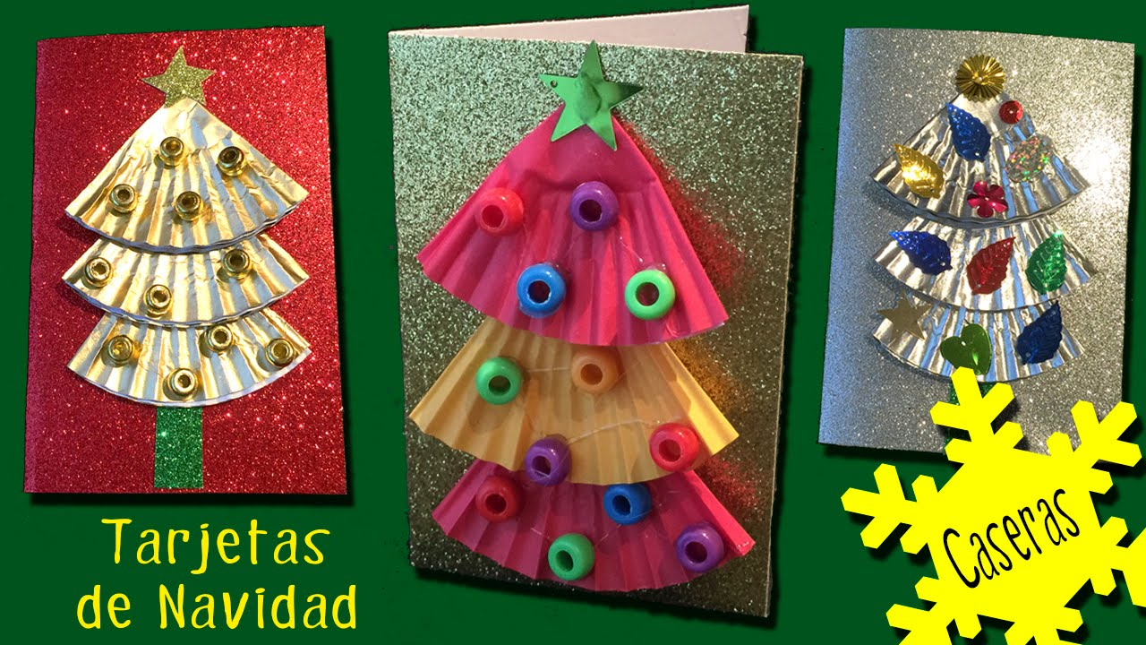 3 tarjetas navide as con rbol de navidad f ciles youtube - Tarjetas de navidad faciles ...