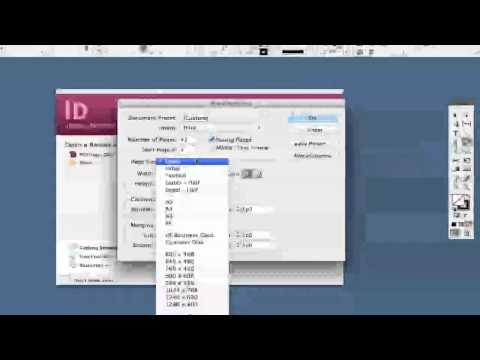 Adobe Indesign Tutorial Creating Your First Do Ent