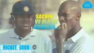 SACHIN vs OLD WEST INDIES BOWLERS | Young Sachin at His Best | IND vs WI 1997 !!