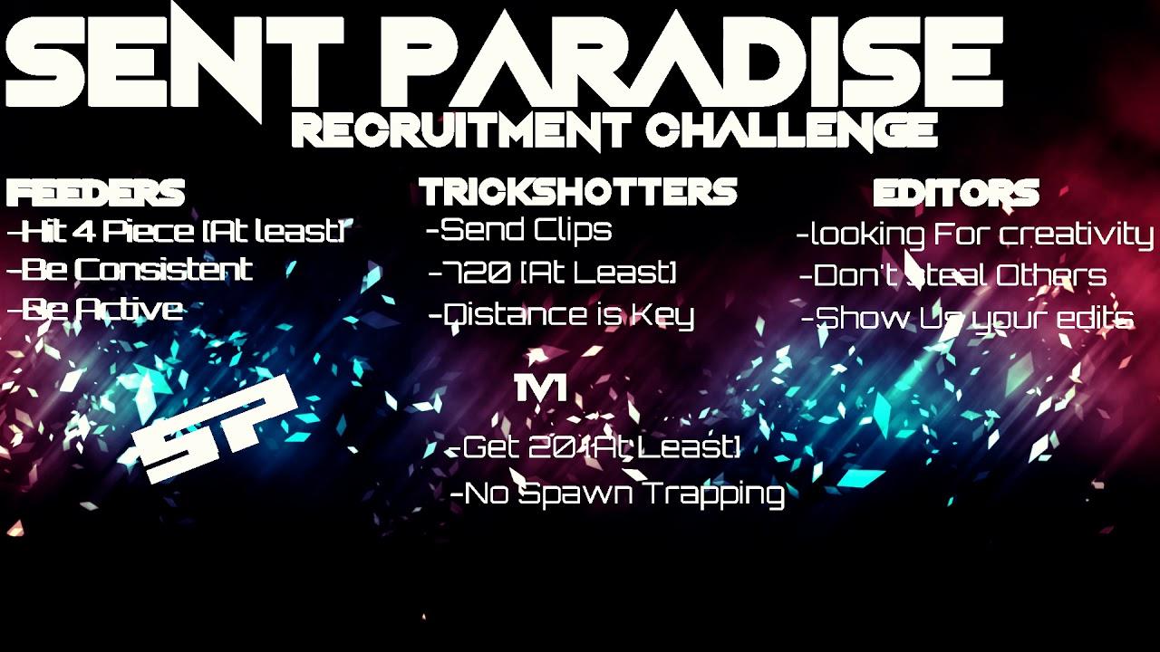 Sent Paradise Recruitment Challenge Youtube