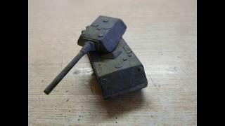 как сделать из картона танк маус
