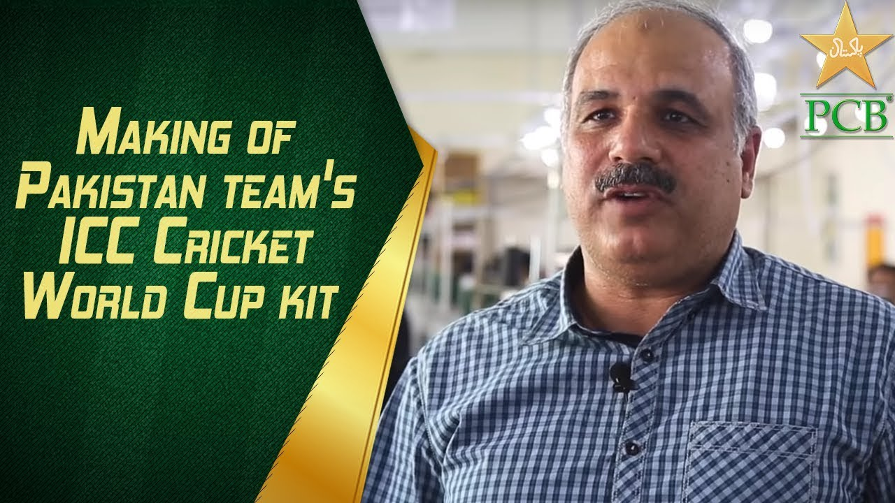 Making of Pakistan team's ICC Cricket World Cup kit.