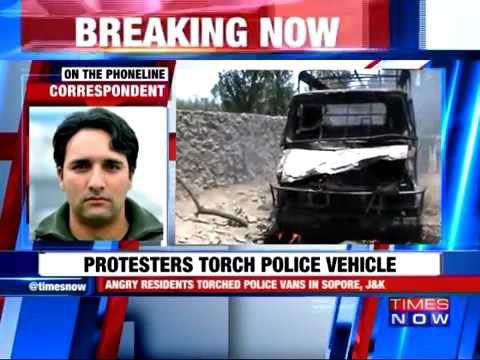 22222 zlodii governance Times Now Kupwara Encounter׃ Protesters Torch Police Vehicle