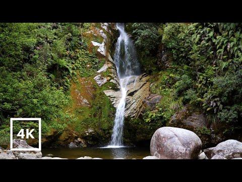 Gentle Waterfall 8 HOURS in 4K Beautiful Waterfall Sounds -Sleep,Relax,Study,Noise Blocking,Tinnitus