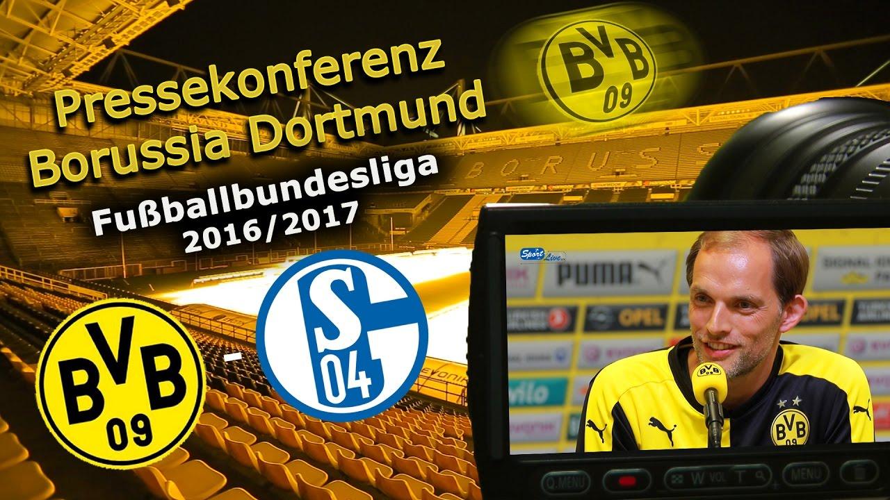 Borussia Dortmund - FC Schalke 04: PK mit Thomas Tuchel zum 149. Revierderby
