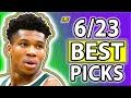 NBA Picks Today DRAFTKINGS NBA PICKS Wednesday June 23rd NBA Betting Picks 2021