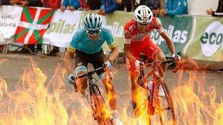 MIGUEL ANGEL LOPEZ e IVAN RAMIRO SOSA A MUERTE!! etapa 3 vuelta a Burgos 2018
