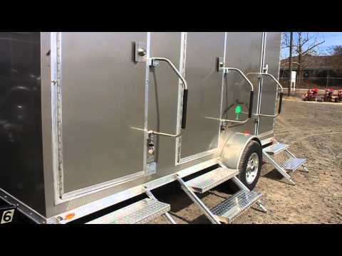 Portable Restroom Trailer - 3 Stall, Smaller Unit - Columbia SC