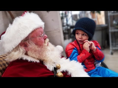 NERVOUS TO ASK SANTA CLAUS SOMETHING SILLY!