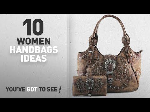 Top 10 Western Handbag [ Winter 2018 ]: Justin West Western Brown Purse Tooled Laser Cut Floral