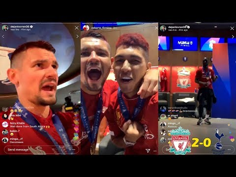 Dejan Lovren Instagram Live FULL Changing Room Celebration To Liverpool Winning Champions League!