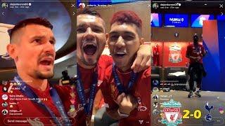 Dejan Lovren Instagram Live FULL Changing Room Celebration To Liverpool Winning Champions League!