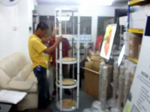 Top Brand Display Stand - Twister Column