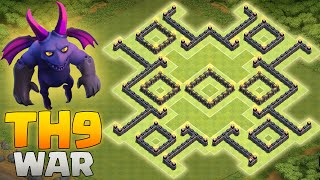 CLASH OF CLANS | ANTI 3-STARS TH9 WAR BASE LAYOUT | ALL NEW 2016