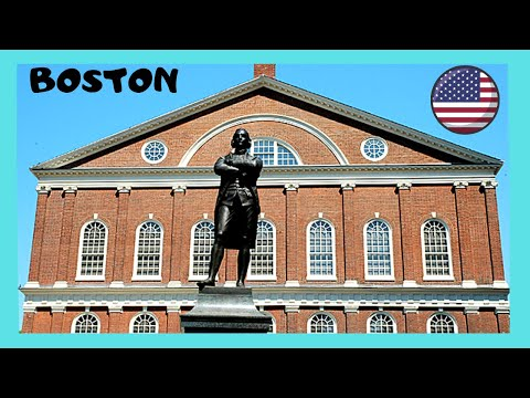 BOSTON, historic marketplace of FANEUIL HALL from the American Revolution