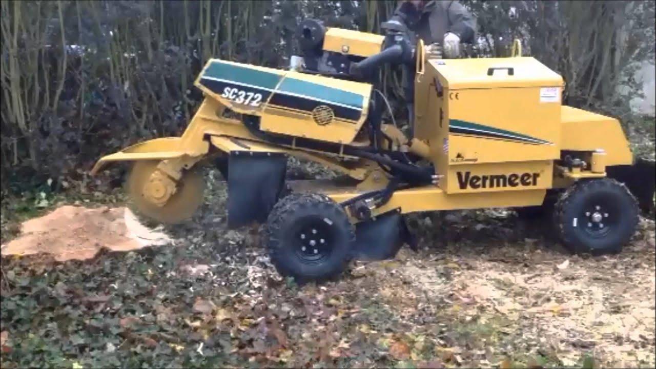 Rogneuse de souches vermeer sc372 youtube - Rogneuse de souche ...