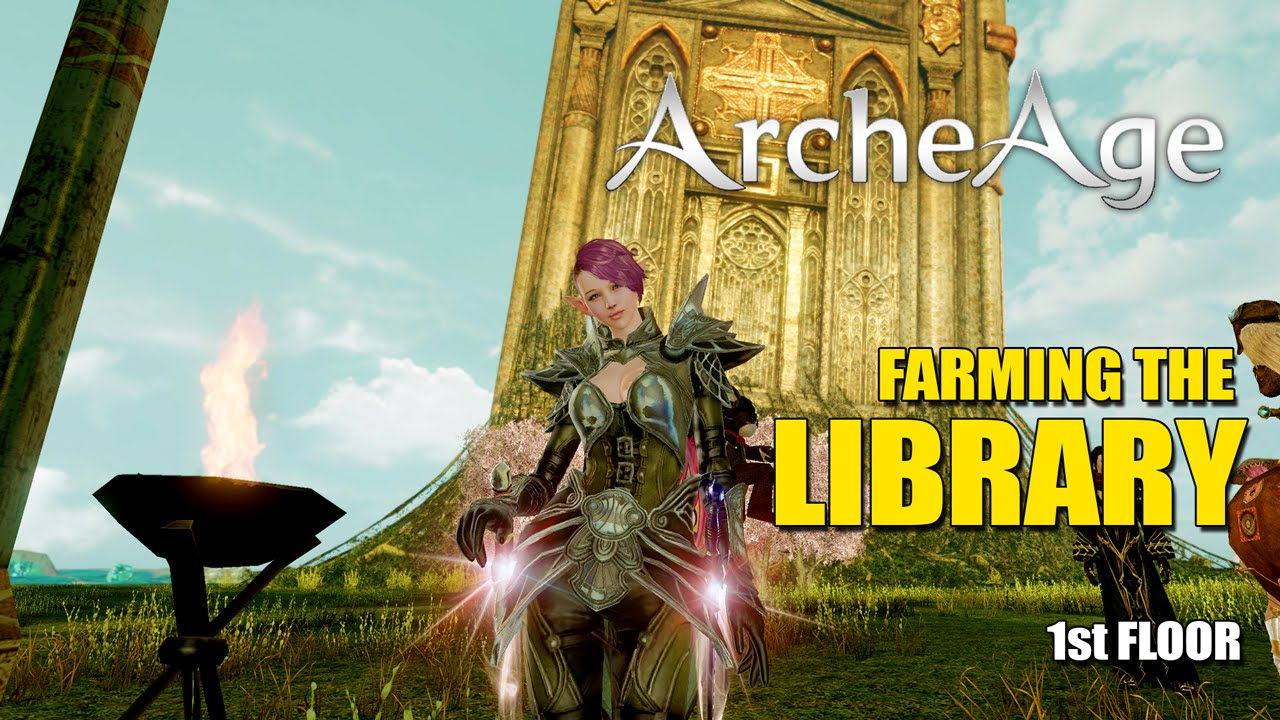 archeage how to get to library