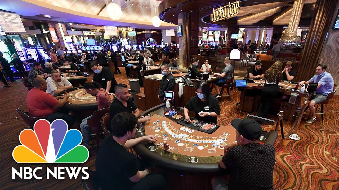 Revelers Return To Las Vegas Casinos After Coronavirus Closure Ends | NBC  News - YouTube
