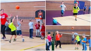 😜HILARIOUS LITTLE KIDS SPORT CAMP! 🏀⚽️🏈