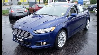 2014 Ford Fusion Titanium Ecoboost Walkaround, Start up, Tour and Overview