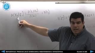 Estadística: Independencia ESTOCÁSTICA Clase 4 (Parte 2)