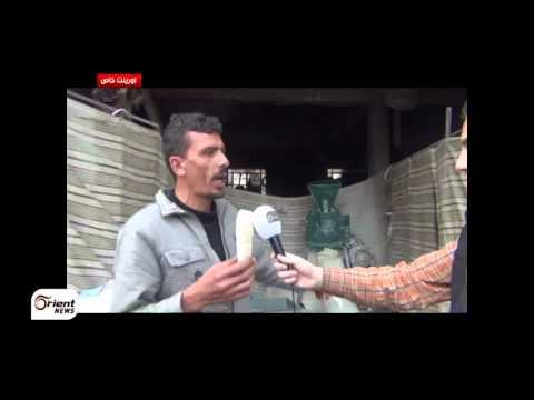 أورينت نيوز | أهالي الغوطة الشرقية  يلجأون الى الوسائل البدائية لتأمين لقمة العيش