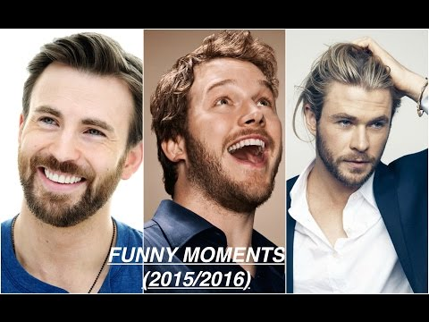 Chris Evans,Chris Hemsworth,Chris Pratt (FUNNY MOMENTS)