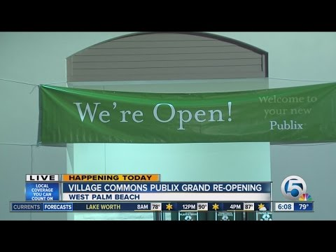 Village Commons Publix In West Palm Beach Reopens Today