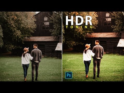 Photo Editing Using HDR Toning With Non-Destructive In Photoshop In Hindi