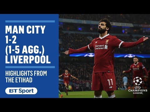 Man City 1-2 Liverpool: Champions League Highlights (Jesus, Salah, Firmino)