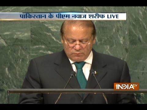 Nawaz Sharif Speech at UN, Praises Kashmir Militant Burhan Wani