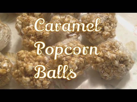 How to Make Popcorn Caramel Balls From Scratch