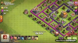 Clash of clans Atacando con gigantes y montapuercos