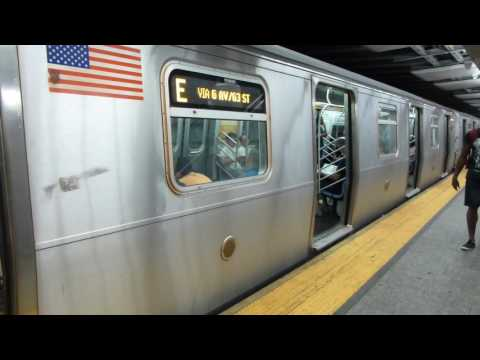IND 63rd St Line: R160A-2 E Train at Lexington Ave-63rd St (Via F Line)(Queens Bound-Weekend)